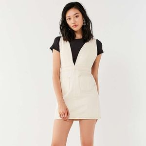 Urban Outfitters Plunge Vneck Overall Mini Dress